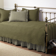 5-Piece Daybed Bedding Set in Dark Green Aloe Color SCT5PDBS599