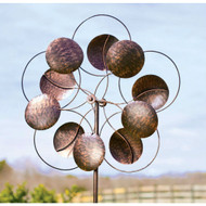 6-Ft Tall Bronze Finish Metal Wind Spinner Spinning Outdoor Modern Art BCMWS598751