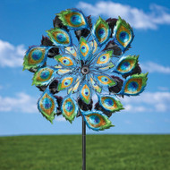 Peacock Solar Multi-Color Wind Spinner Outdoor Lawn Garden Decor MSWP519815