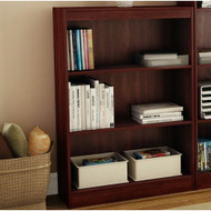 3-Shelf Bookcase in Royal Cherry - Made from CARB Compliant Particle Board WSTSBRCF540-4