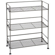 3-Shelf Iron Rectangular Folding Metal Bookcase Storage Shelves SC3TIRBS41-4