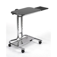 Clear Glass Top Mobile Laptop Computer Cart Desk with Mouse Pad CTLCMP8134
