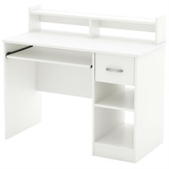 Modern Computer Desk with Keyboard Tray in White Finish SACD10342