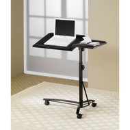 Adjustable Height Mobile Laptop Computer Desk Stand in Black Finish LCSAHB5995
