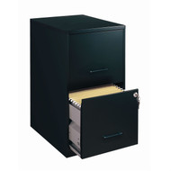 Black Metal 2-Drawer Vertical Filing File Cabinet - Made in USA C2DVS63421