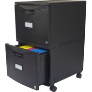 Black 2-Drawer Locking Letter/Legal size File Cabinet with Casters/Wheels S18W77991