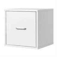 1-Drawer Modular File Cube Storage Cabinet in White WFC399842