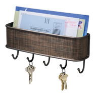 Wall Mount Mail Holder with Key Hooks IDWM1901