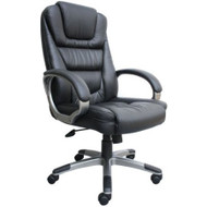 Ergonomic Black Faux Leather Executive Office Chair BBLPEC16829-3