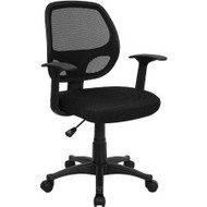 Black Mesh Mid-Back Office Chair FMBMCC5768-3