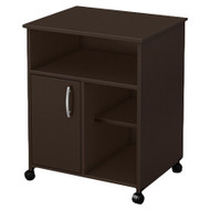 Contemporary Printer Stand Cart with Storage Shelves in Chocolate CPS934013