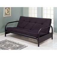 Contemporary Black Metal Futon Frame CMFB14681-3