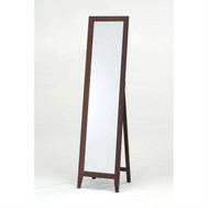 Contemporary Solid Wood Floor Mirror in Walnut Finish KMWF69951-3