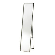 Modern Free-Standing Floor Mirror in Champagne Steel Finish AFM88961-3