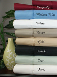 "16"" Deep Pocket -5 SIZES-1000 Thread Count Striped Egyptian Cotton Bed Sheet Sets-1492-"