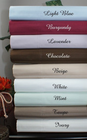 "16"" Deep Pocket - 5 SIZES-1200 Thread Count Striped Egyptian Cotton Bed Sheet Sets-1494-"