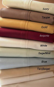 "16"" Deep Pocket -5 SIZES-1200 Thread Count Solid Egyptian Cotton Bed Sheet Sets-1496-"