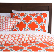 Twin Size Orange Gray Fresh Start 2 piece Comforter Set MDSFQKK33