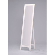 Contemporary Bedroom Floor Mirror in White Wood Finish KBM67982-3