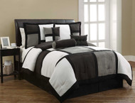 11pc PMR Black Micro Suede Bed-in-a-Bag-1720-
