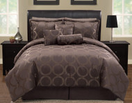 11pc FULL DWT Chocolate Luxury Bedding Set