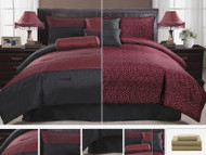 11pc MLWI Reversible Burgundy Luxury Bed-in-a-Bag