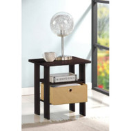 Espresso End Table Nightstand for Bedroom or Living Room FSLETN27491