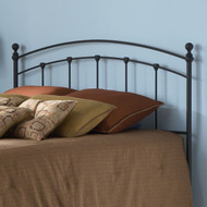 Full size Matte Black Metal Headboard FSMB1080
