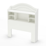 Twin size Arched Bookcase Headboard in White Wood Finish STBW1306