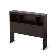 Twin size Contemporary Bookcase Headboard in Chocolate Finish TCH848801