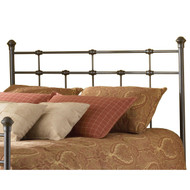 Queen size Metal Headboard in Hammered Brown Finish QFBGD127951