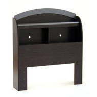 Twin size Bookcase Headboard in Black Onyx Charcoal Finish SCBO1053695