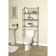 Bathroom Space Saving Over the Toilet Linen Tower Shelving Unit in Nickel Finish MTBC8548542