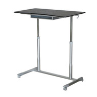 Espresso Adjustable Height Sitting Standing Desk Ergonomic Mobile Stand Up Computer Table EAHSTUC887453