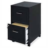 Black Metal 2-Drawer Filing Cabinet with Rolling Casters / Wheels LTDMFC984851
