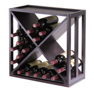 24-Bottle Modern Wine Rack Modular and Stackable in Espresso WKWR458351