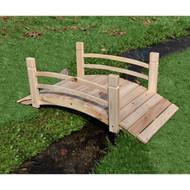 5-Ft Cedar Wood Garden Bridge with Railings in Natural Finish SGB589541