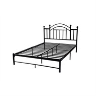 Queen size Black Metal Platform Bed Frame with Vintage Post Style Arch Headboard QMPBH9816521