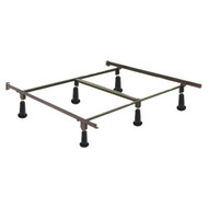 Queen Metal Bed Frame with Headboard Brackets and High Rise Glides LPQHR51981
