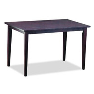 Solid Rubberwood Dining  Table in Dark Brown Stain Veneer Finish BSPDB156675