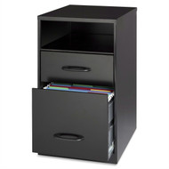 Black Metal 2-Drawer Filing Cabinet with Office Storage Shelf LMBC59685481