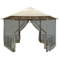 14Ft x 14Ft Hexagon Gazebo with Canopy and Insect Screen HGS3691515