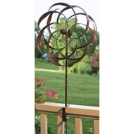 Copper Plated Metal Decorative Yard Garden Accent - Does Not Spin in Wind WFBD51981
