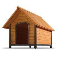 Solid Wood Outdoor A-Frame Dog House Weather-Resistant - Small Dogs up to 25 lbs DHS62018911