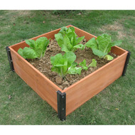 Solid Wood 3-Ft x 3-Ft Raised Garden Bed Planter Box - 12-inch High RGBPTS98421