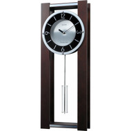 Modern Pendulum Wall Clock in Rich Espresso - Plays 18 Melodies MEWC519841
