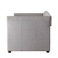 Twin size Grey Upholstered Daybed with Roll-out Trundle Guest Bed CDBWT5195812
