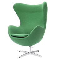 Green Wool Fabric Upholstered Modern Swivel Living Room Arm Chair GMCAC1984721