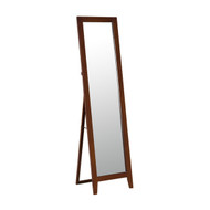 Modern Classic Full Length  Leaning Floor Mirror with Brown Wood Frame SMA5189415163