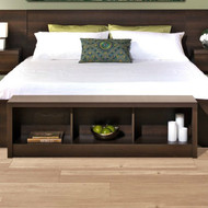 Bedroom Storage Bench Footboard in Espresso Wood Finish DSCRC9874815